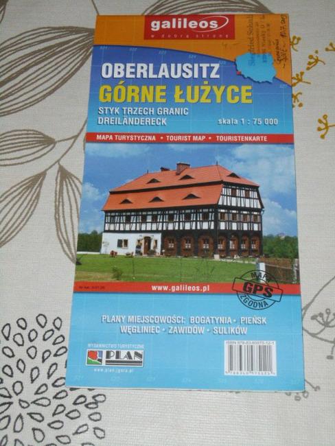 Górne Luzyce : styk trzech granic : mapa turystyczna : skala 1:75 000 = Oberlausitz : Dreiländereck : Touristenkarte = Tourist Map