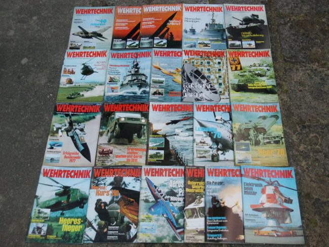 Wehrtechnik (21 Hefte: 1976-1979)