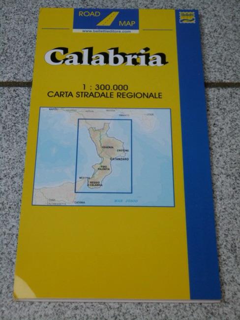 Calabria 1:300.000 Carta Stradale Regionale