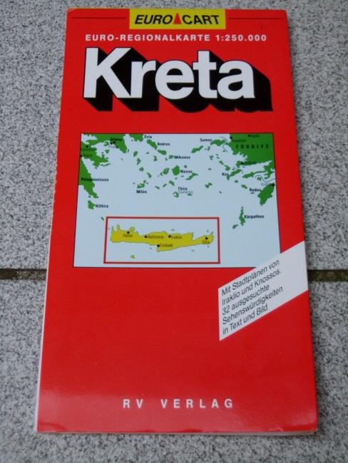 [Griechenland <1:250.000>] Teil: 3. Kreta : mit Stadtplänen von Iraklio und Knossos ; 32 ausgesuchte Sehenswürdigkeiten in Text und Bild 8. Aufl., [Ausg.] 1994/95