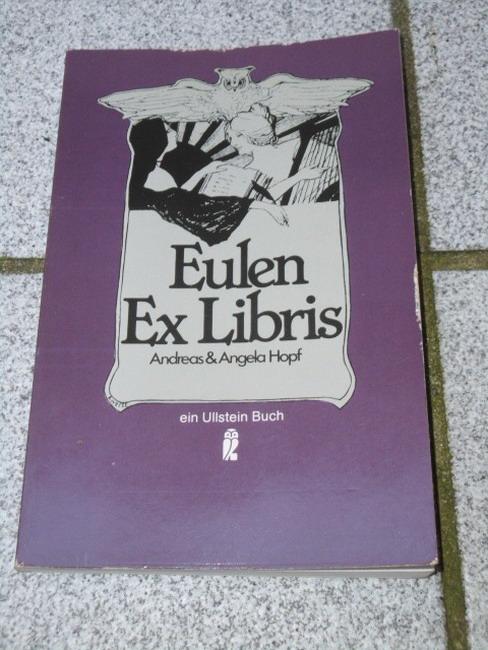 Eulen-Exlibris. Andreas & Angela Hopf Orig.-Ausg.