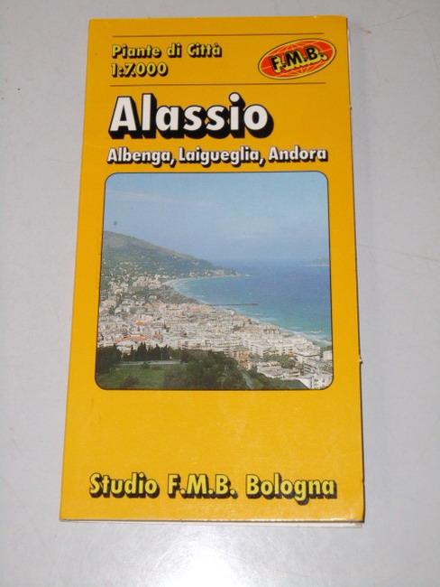 Alassio - Albegna : Laigueglia - Andora : piante di città 1:7 000 Mit 1 Nebenkt. u. auf d. Ru¨cks. Straßenverz.