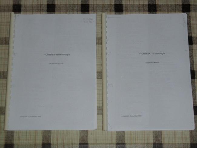Wörterverzeichnis FICHTNER-Terminologie Deutsch - Englisch + Englisch - Deutsch; Begriffe aus dem Bereich Bauwesen