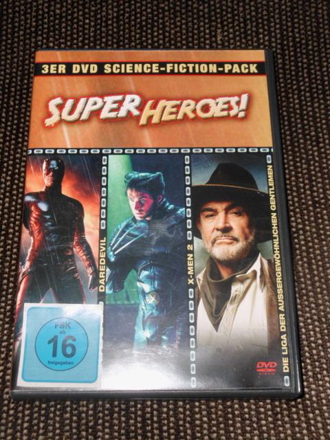 Super Heroes Box [3 DVDs] - Daredevil, X-Men 2, Die Liga der außergewöhnlichen Gentlemen. Auflage: Standard Version