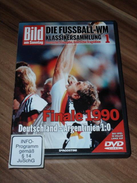 Deutsche Triumphe, deutsche Tragödien 1. DVD. Finale 1990, Deutschland - Argentinien 1 : 0. Bild am Sonntag. Die Fussball-WM Klassikersammlung.