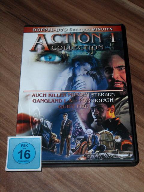Action Collection 1 [2 DVDs] - Auch Killer müssen sterben, Gangland L.A., Psychopath, Quiet Fire.