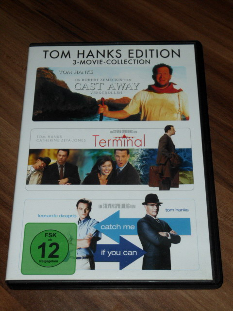 Tom Hanks Edition: 3-Movie-Collection [3 DVDs]: Cast Away, Terminal, Catch me if you can.