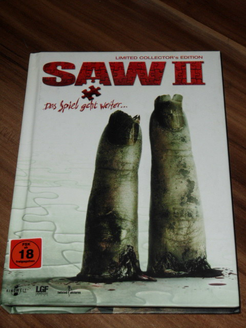 * SAW II / 2 * , [2 DVDs] TOTAL UNCUT & FSK18 LIMITED BUCH COLLECTOR´s EDITION