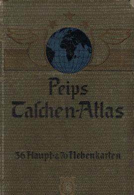 ATLAS - PEIP.: Peips Taschen-Atlas vom Mittelrhein-Gebiet. Neue Ausgabe.