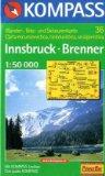 Innsbruck, Brenner Kompass-Wanderkarte ; 36 Aufl. 19a