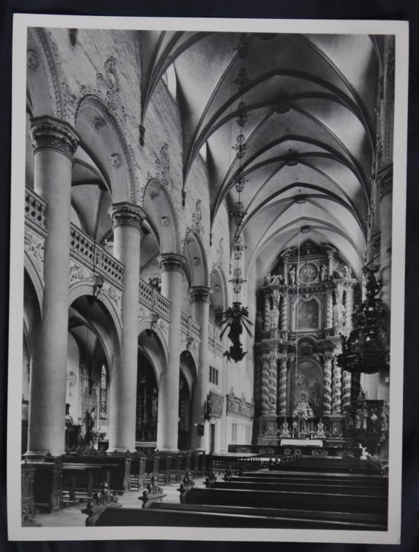 Fotografie, 18x24cm, ca. 1935 Jesuiten-Kirche in Paderborn