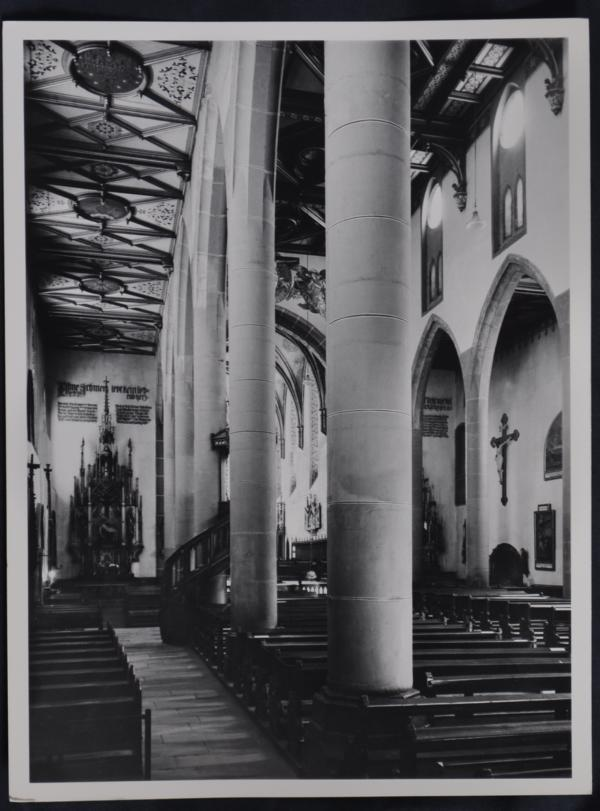 Fotografie, 18x24cm, ca. 1935 Kirche St. Martin in Freiburg