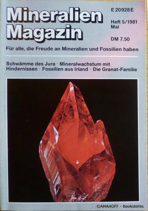 Mineralien Magazin. Heft 5. Jahrgang 1981