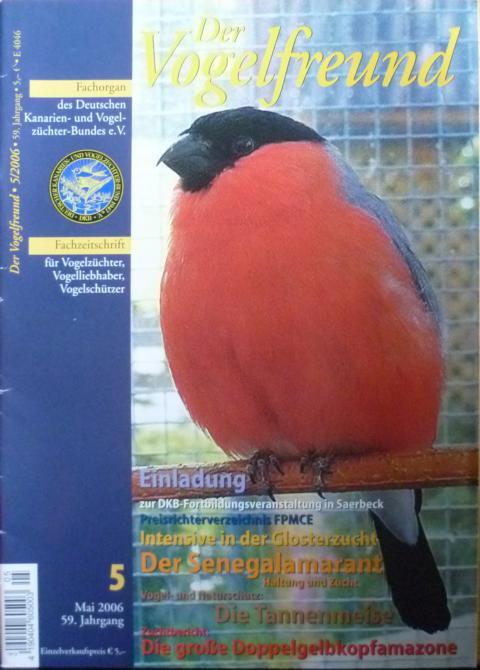 Der Vogelfreund. Fachzeitschrift für Vogelzüchter, Vogelliebhaber, Vogelschützer. 59. Jahrgang. Heft 5, Mai