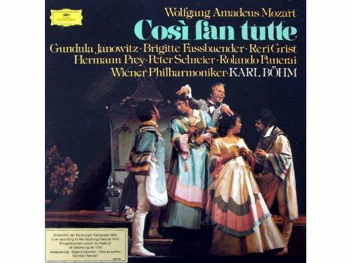 Mozart: Cosi fan tutte (Gesamtaufnahme. Mitschnitt der Salzburger Festspiele 1974) [Vinyl Schallplatte] [3 LP Box-Set]