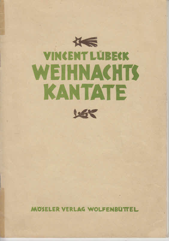 Weihnachtskantate. Wilkommen, süßer Bräutigam für Cor, zwei Einzelstimmen (ad lib.), zwei Geigen, Cello und Orgel (Helmut Weiß)