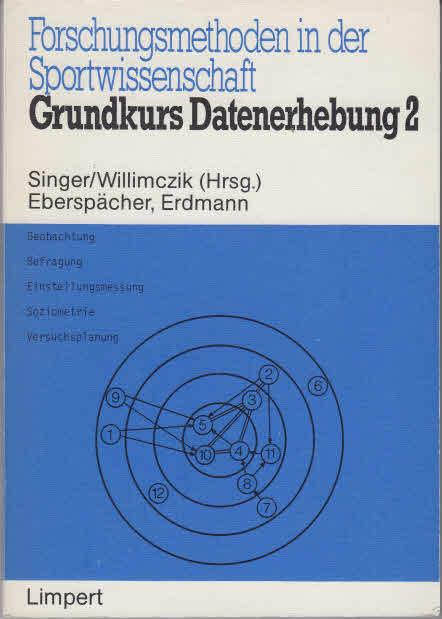 Forschungsmethoden in der Sportwissenschaft. - Bad Homburg v.d.H. : Limpert [Mehrteiliges Werk]; Teil: Bd. 3. Grundkurs Datenerhebung : 2. R. Singer (Hrsg.) ; K. Willimczik (Hrsg.). H. Eberspächer ; R. Erdmann 1. Aufl.