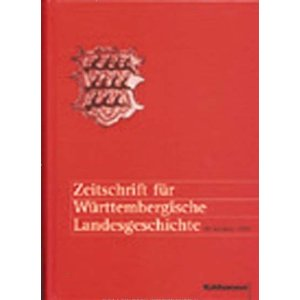 Zeitschrift für Württembergische Landesgeschichte 62. Jahrgang 2003