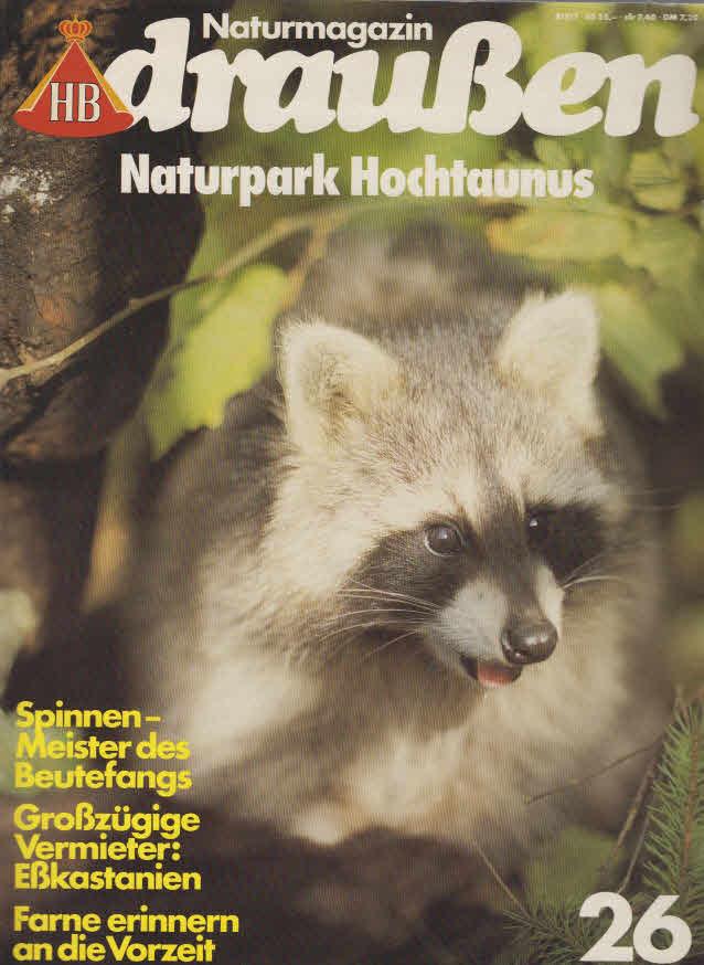 naturpark Hochtaunus Naturmagazin draußen,Nr. 26 HB, 98 Seiten, Bilder