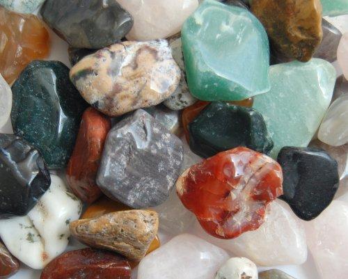 Edelsteine, anpolierte Trommelsteine, bunte Mischung, Größe ca. 2 - 3 cm, 1 kg-Beutel