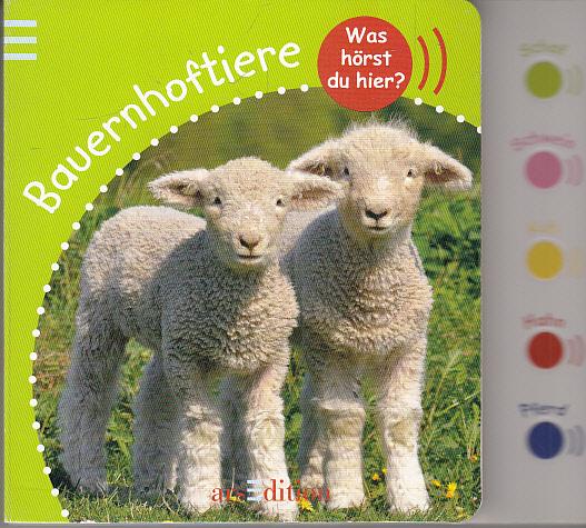 Was hörst du hier? Bauernhoftiere: mit Tierfotos