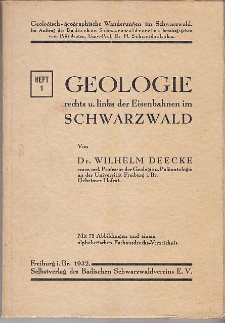 Geologie rechts u. links der Eisenbahnen im Schwarzwald,