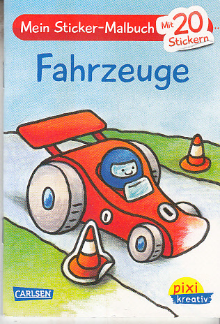 Pixi kreativ Nr. 19: Mein Sticker-Malbuch: Fahrzeuge