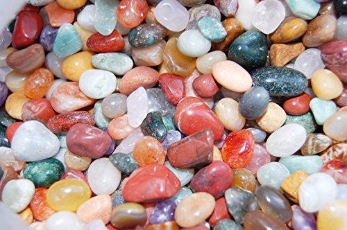 Edelsteine, polierte Trommelsteine, bunte Mischung, Größe 1-1,5 cm, 500 g-Beutel