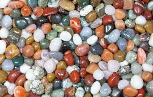 Edelsteine, Trommelsteine poliert, bunte Mischung, Größe 1 - 1,5 cm, 500g-Beutel