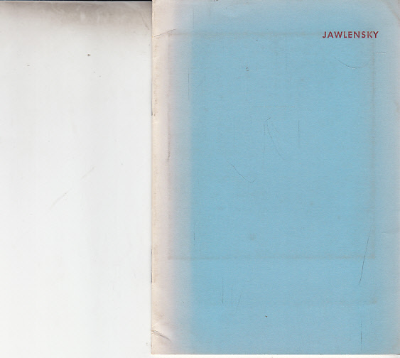 Jawlensky. Ausstellung 4. September - 6. Oktober 1956.