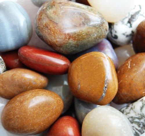 Edelsteine, zehn verschiedene Trommelsteine poliert, XXL, Größe 3,5 - 5 cm (Stückpreis 1,- Euro)