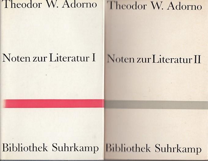 Noten zur Literatur. I,II,III. 3 Bd. I. Band 47/II. Band 71/ III. Band 146 der Bibliothek Suhrkamp.