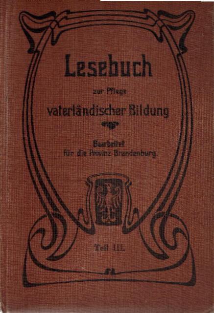 Jütting und Webers Lesebuch zur Pflege vaterländischer Bildung