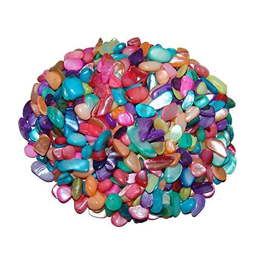 Perlmutt - Trommelsteine bunt koloriert ca. 4-10 mm 250 g