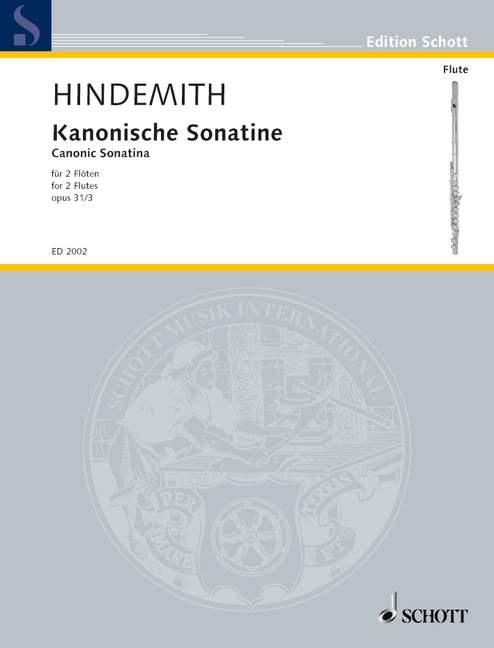 Kanonische Sonatine op. 31/3  Spielpartitur - Hindemith, Paul