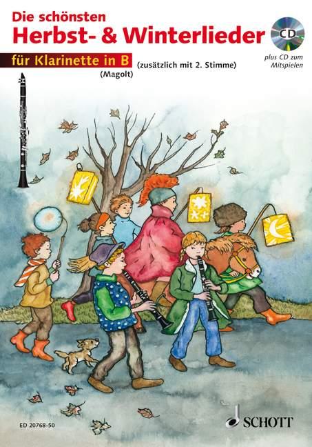 Die schönsten Herbst- und Winterlieder Sankt Martin, Nikolauslieder und Weihnachtslieder Ausgabe mit CD - Magolt, Hans / Magolt, Marianne (Hrsg.); Roelcke, Christa (Bearb.); Estenfeld-Kropp, Christa (Illustr.)