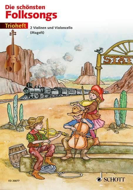 Die schönsten Folksongs Trioheft Spielpartitur - Magolt, Hans / Magolt, Marianne (Hrsg.); Birtel, Wolfgang (Bearb.); Estenfeld-Kropp, Christa (Illustr.)
