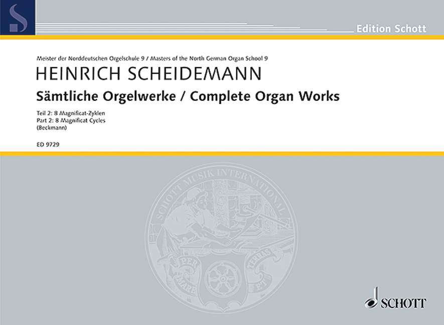 Sämtliche Orgelwerke Band 2 8 Magnificat-Zyklen - Anonymus: Choralfantasie (Magnificat VIII. toni), (Reihe: Meister der Norddeutschen Orgelschule 9) - Scheidemann, Heinrich; Beckmann, Klaus (Hrsg.)