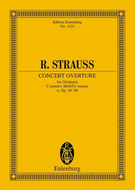 Concert Ouvertüre c-Moll o. Op. AV. 80 (Serie: Eulenburg Studienpartituren), (Reihe: Eulenburg Studienpartituren) Studienpartitur - Strauss, Richard; Kohler, Stephan (Hrsg.)