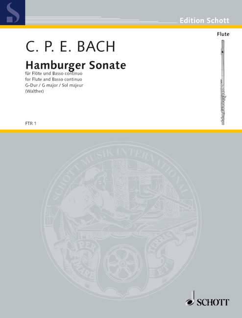 Hamburger Sonate G-Dur Wq 133 (Serie: Il Flauto traverso)