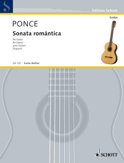 Sonata romántica Hommage an Franz Schubert, (Serie: Gitarren-Archiv) - Ponce, Manuel Maria; Segovia, Andrés (Hrsg.)