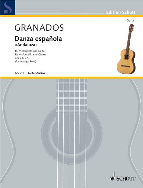 Danza españolaAndaluza op. 37/5 (Serie: Gitarren-Archiv) - Granados, Enrique; Jerie, Marek / Ragossnig, Konrad (Hrsg.)