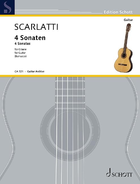 4 Sonaten (Serie: Gitarren-Archiv) - Scarlatti, Domenico; Barrueco, Manuel (Bearb.)