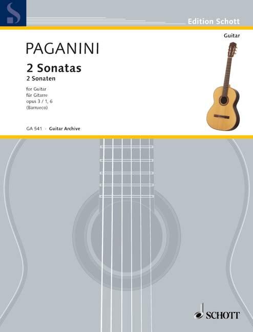 2 Sonatas op. 3/1 und 6 (Serie: Gitarren-Archiv) - Paganini, Niccolò; Barrueco, Manuel (Hrsg.)
