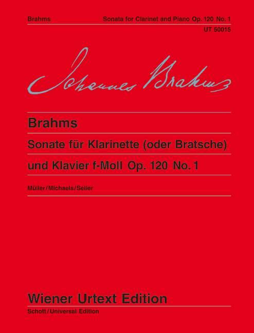 Sonate f-Moll op. 120/1 Nach der Stichvorlage und der Originalausgabe, (Serie: Wiener Urtext Edition) Urtextausgabe 7. Auflage - Brahms, Johannes; Müller, Hans-Christian (Hrsg.)
