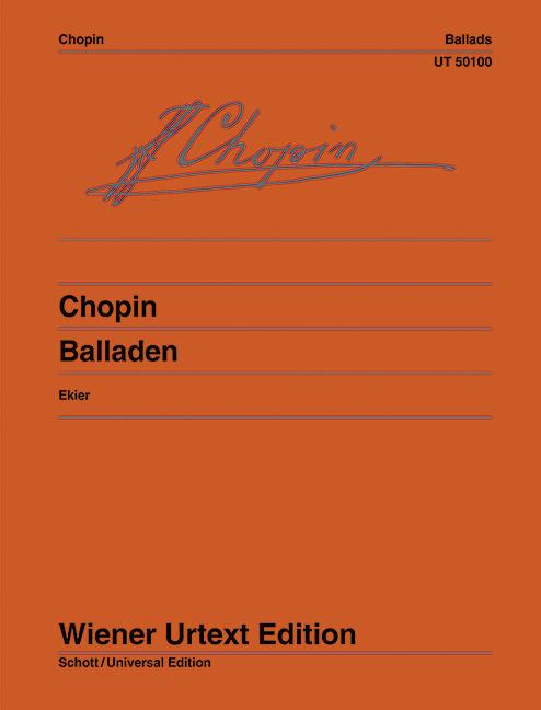 Balladen Urtext, (Serie: Wiener Urtext Edition) Urtextausgabe - Chopin, Frédéric; Ekier, Jan (Bearb.)