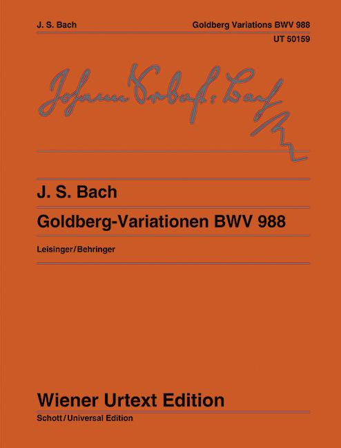 Goldberg-Variationen (Klavierübung IV) BWV 988 Aria mit verschiedenen Veränderungen. Nach der neuen Bach-Ausgabe., (Serie: Wiener Urtext Edition) Urtextausgabe 6. Auflage - Bach, Johann Sebastian; Wolff, Christoph (Hrsg.); Dreyfus, Huguette (Bearb.)