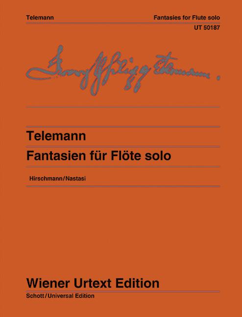 12 Fantasien Nach dem Erstdruck, (Serie: Wiener Urtext Edition) Urtextausgabe 1. Auflage - Telemann, Georg Philipp; Hirschmann, Wolfgang (Hrsg.)