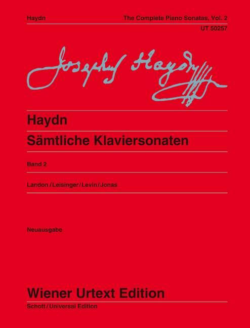 Sämtliche Klaviersonaten Vol. 2 Sonaten Hob. XVI:18-20, XVI:33, XVI:43-47, XVI:5a. Ed. Landon/Leisinger/Levin, (Serie: Wiener Urtext Edition) Urtextausgabe - Haydn, Joseph; Landon, Christa (Hrsg.); Jonas, Oswald (Bearb.)