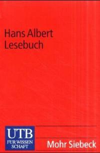 Hans Albert Lesebuch von Hans Albert  2001 - Hans Albert